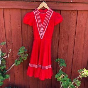 Vintage 1960's does Rockabilly Red Dress ♥️🌺💃🏻